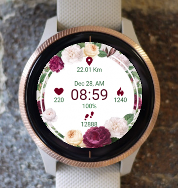 Garmin Watch Face - Among Roses