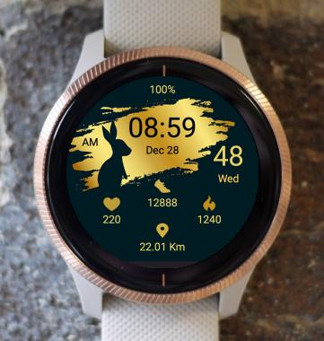 Garmin Watch Face - Gold Bunny