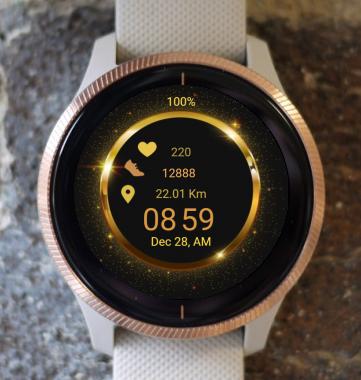 Garmin Watch Face - Inside the golden circle