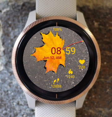 Garmin Watch Face - Autumn Yellow
