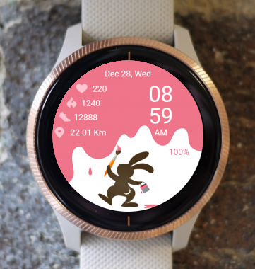Garmin Watch Face - Bunny Paint
