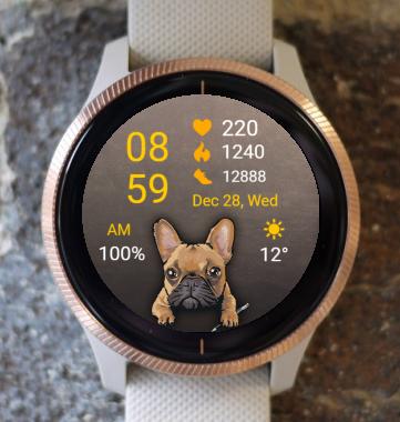 Garmin Watch Face - Dog - French Bulldog
