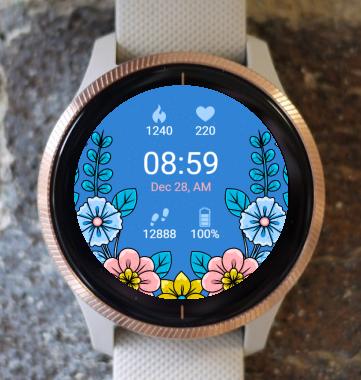 Garmin Watch Face - Moon Flower G