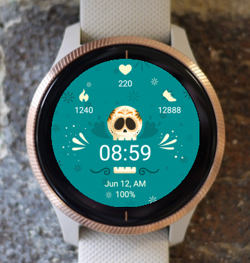 Garmin Watch Face - Skull Watch