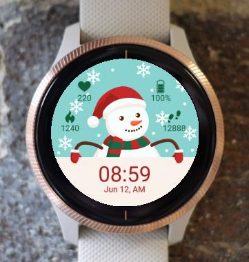 Garmin Watch Face -  Merry Christmas Snowman G