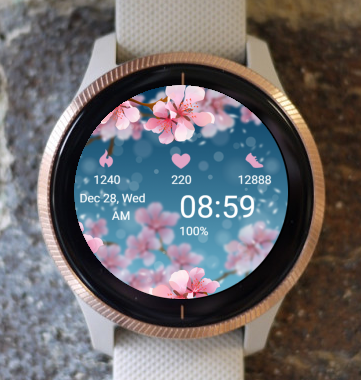 Garmin Watch Face - Cherry Blossoms