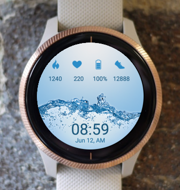 Garmin Watch Face - Mineral Water