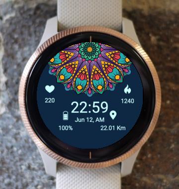 Garmin Watch Face - Mandala C2