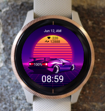 Garmin Watch Face - VGA Car