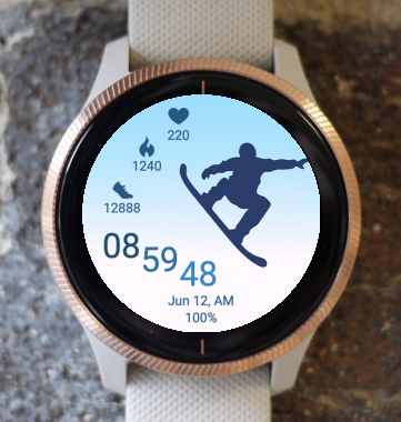 Garmin Watch Face - Snowboard