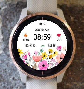 Garmin Watch Face - Flower Fair 23