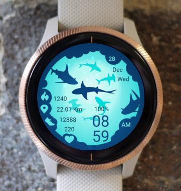 Garmin Watch Face - Sharks