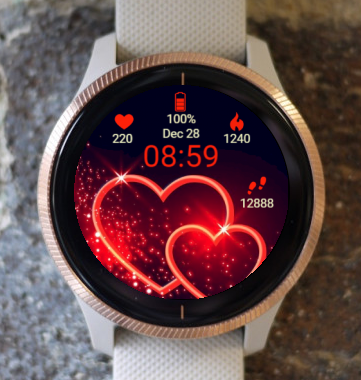 Garmin Watch Face - Hi Love