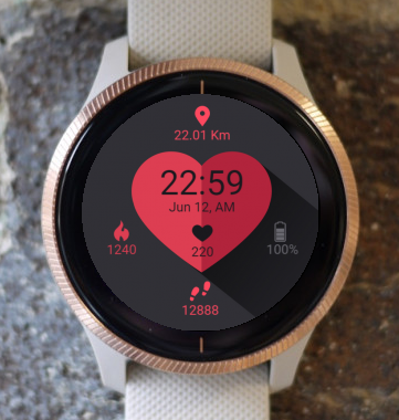Garmin Watch Face - Loving Heart G