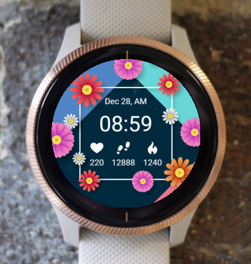 Garmin Watch Face - Spring Flowers G