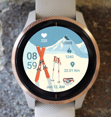 Garmin Watch Face - Vintage Ski
