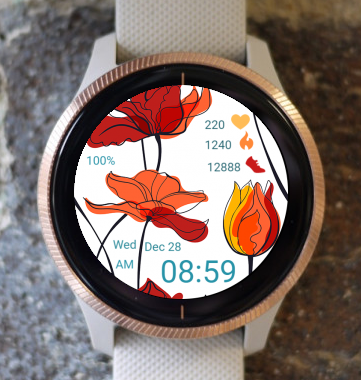 Garmin Watch Face - Poppy
