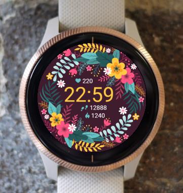 Garmin Watch Face - Flower G