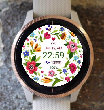 Garmin Watch Face - Flower Fair 16