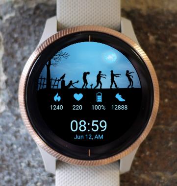 Garmin Watch Face - Zombie Walk