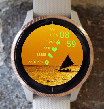 Garmin Watch Face - Sailboat 02