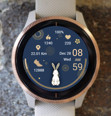 Garmin Watch Face - White Rabbit