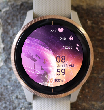Garmin Watch Face - Pink Planet