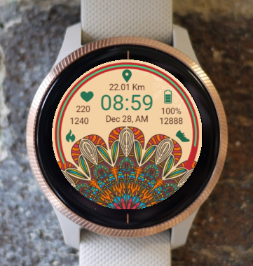 Garmin Watch Face - Mandala Roz 8