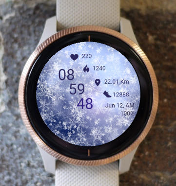 Garmin Watch Face - Snowfall