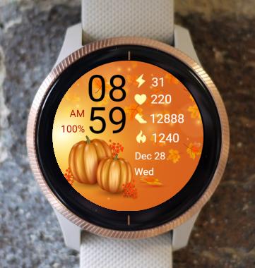 Garmin Watch Face - Autumn Pumpkin