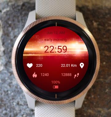 Garmin Watch Face - Red Light