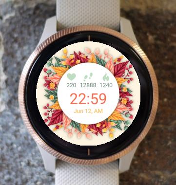 Garmin Watch Face - Autumn Flower Circle G