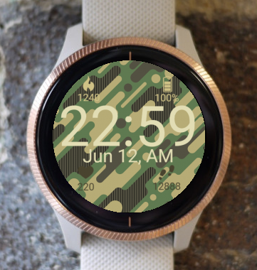 Garmin Watch Face - Camouflage
