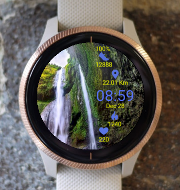 Garmin Watch Face - Waterfall