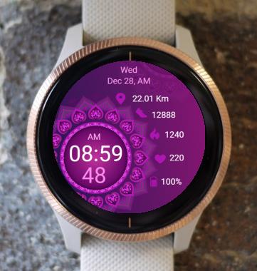 Garmin Watch Face - Mandala T3