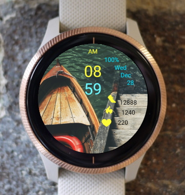 Garmin Watch Face - Boat