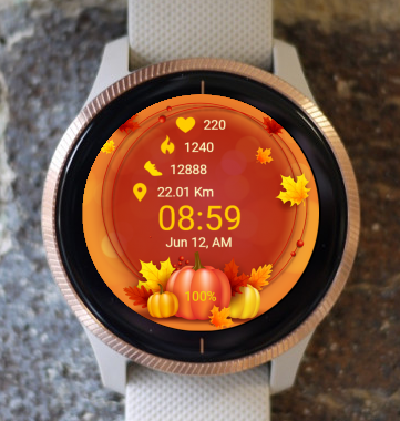 Garmin Watch Face - Thanksgiving 03