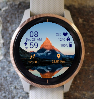 Garmin Watch Face - Mountain Peak Light