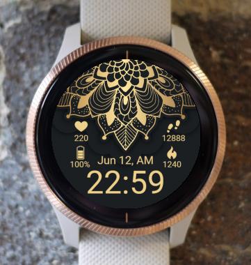 Garmin Watch Face - Golden Mandala G