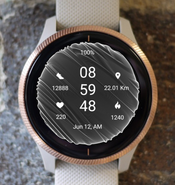 Garmin Watch Face - Silver Moon Time