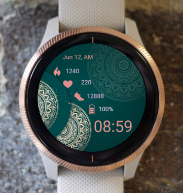Garmin Watch Face - Mandala C22