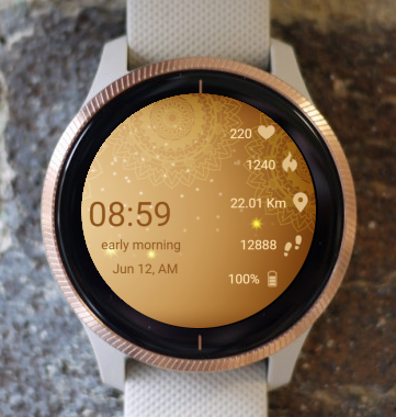 Garmin Watch Face - Mandala C9