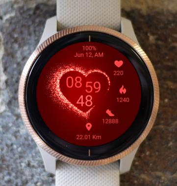 Garmin Watch Face - Love Fire