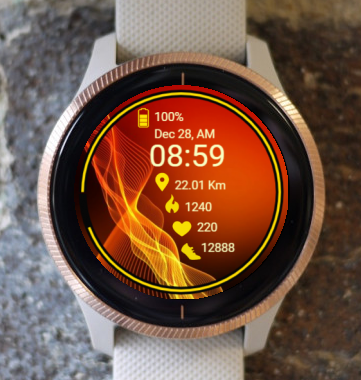Garmin Watch Face - Waves RR 4