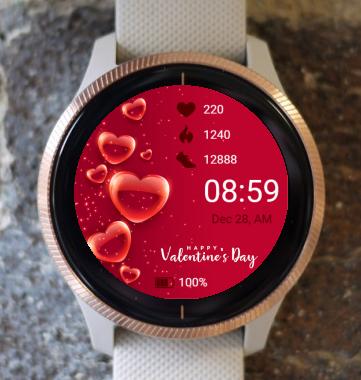 Garmin Watch Face - Valentine Balloon