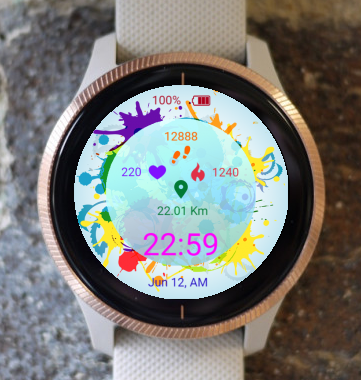 Garmin Watch Face - Colorful