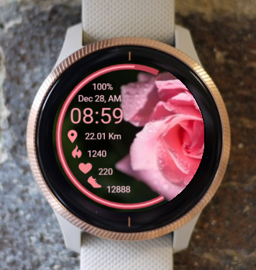 Garmin Watch Face - Ga Rose