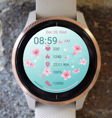 Garmin Watch Face - Flower Rain