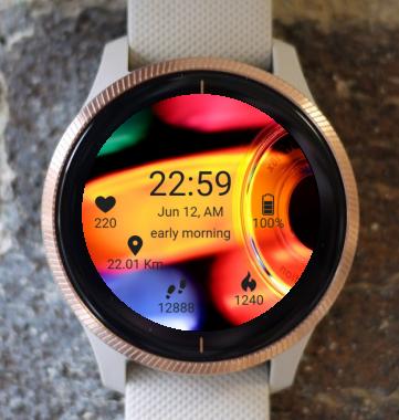 Garmin Watch Face - BW D101