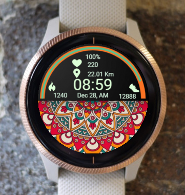 Garmin Watch Face - Mandala Roz 7